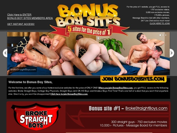 Bonus Boy Sites With Discount