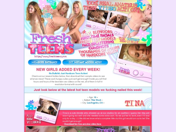 Free Fresh Teens Account And Password