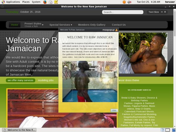 Raw Jamaican Signup Form
