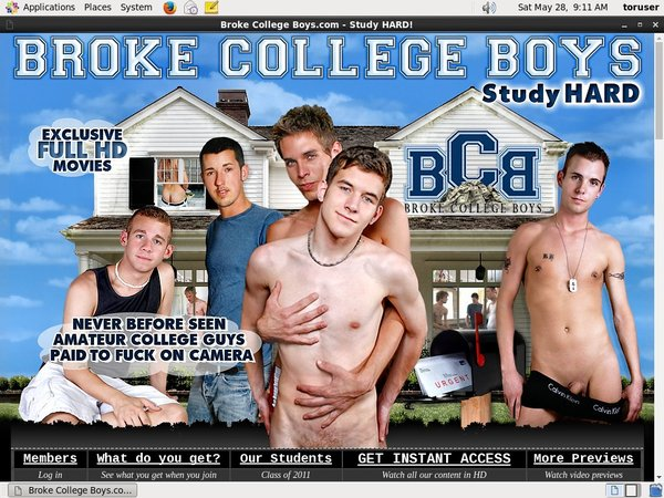 Free Brokecollegeboys.com Account