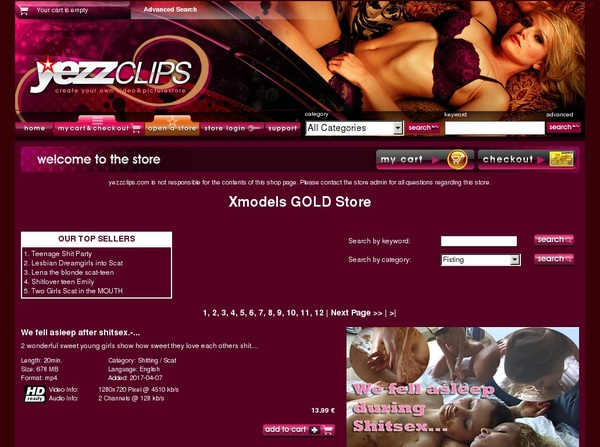Xmodels Gold Store Accont