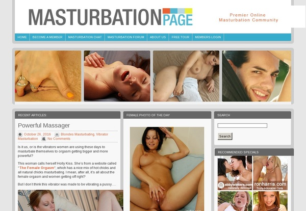 Sign Up For Masturbationpage